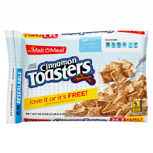 Malt-o-Meal Cinnamon Toasters Cereal 24.4oz (691g)